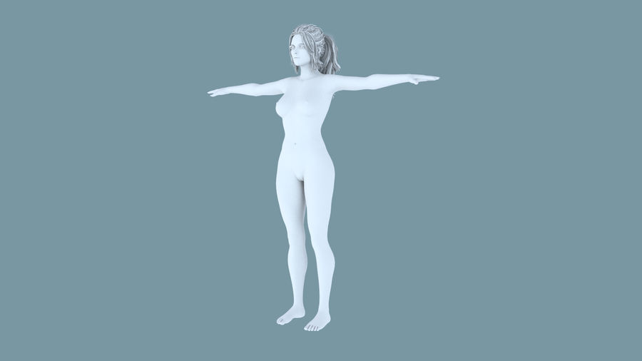 Realistic Female Character 4 royalty-free 3d model - Preview no. 14