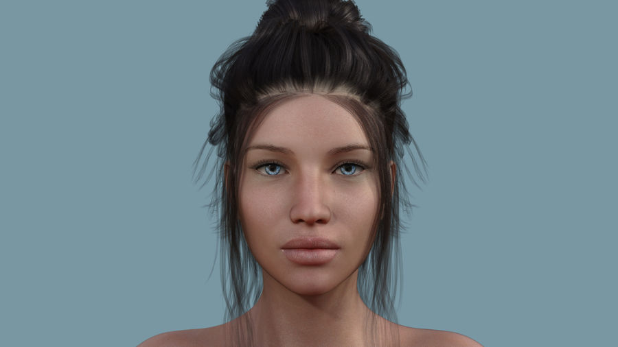 Realistic Female Character 5 royalty-free 3d model - Preview no. 4