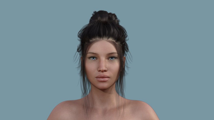 Realistic Female Character 5 royalty-free 3d model - Preview no. 2