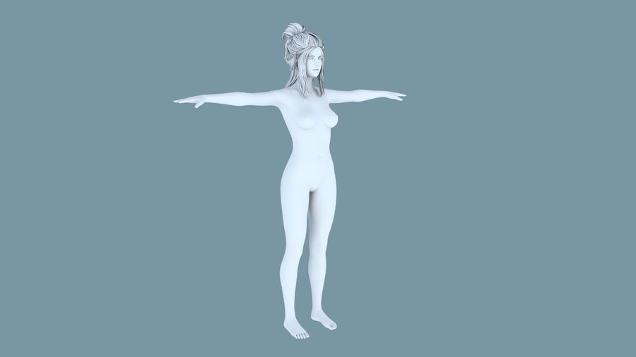 Realistic Female Character 5 royalty-free 3d model - Preview no. 13
