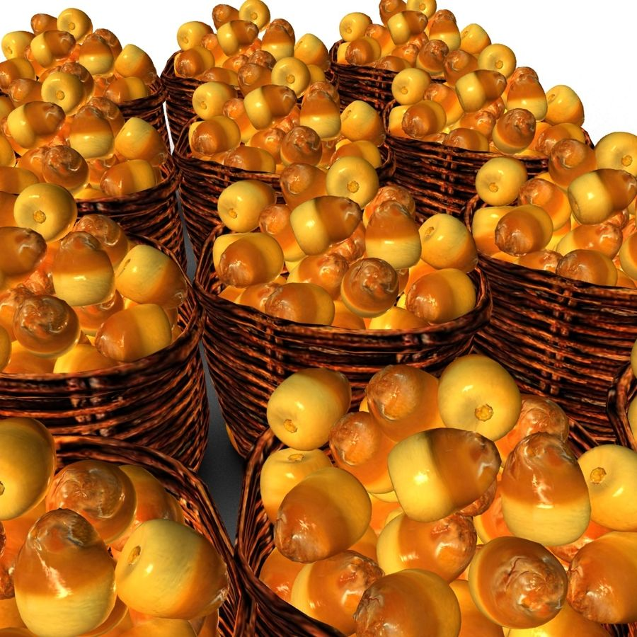Dates half ripe royalty-free 3d model - Preview no. 6