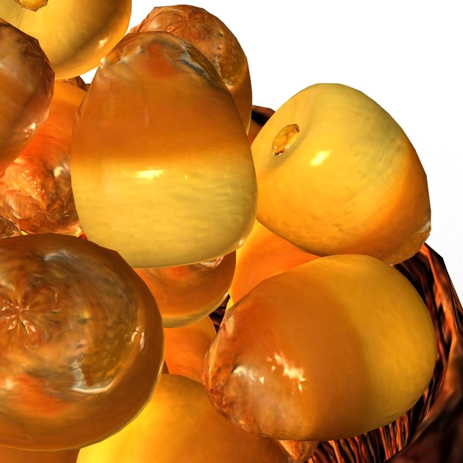 Dates half ripe royalty-free 3d model - Preview no. 5