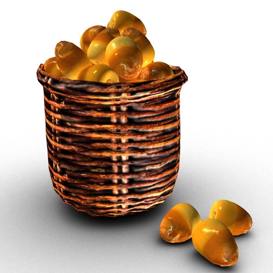 Dates half ripe royalty-free 3d model - Preview no. 2