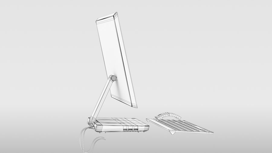 Office Computer royalty-free 3d model - Preview no. 17