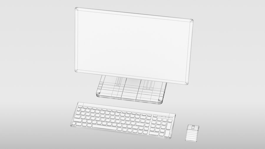 Office Computer royalty-free 3d model - Preview no. 21