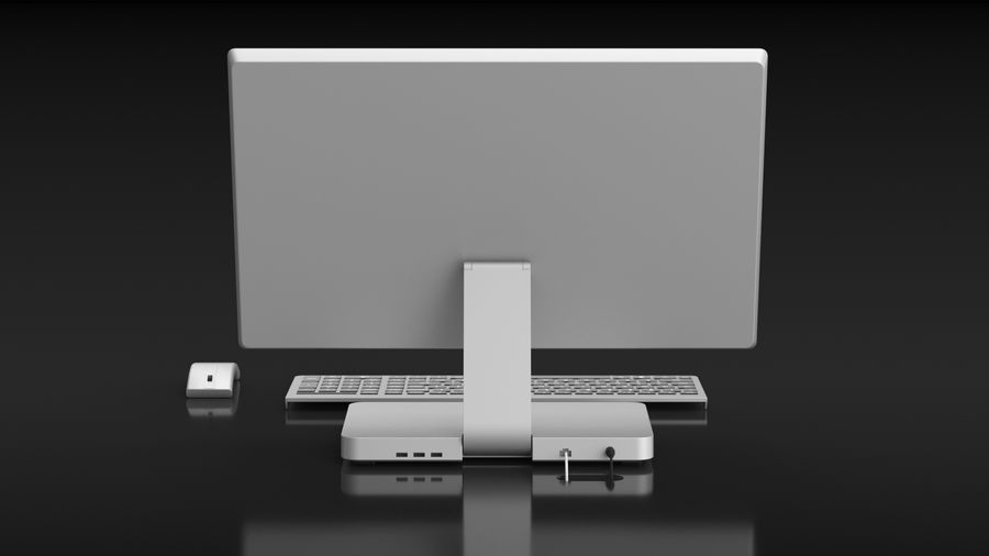 Office Computer royalty-free 3d model - Preview no. 6
