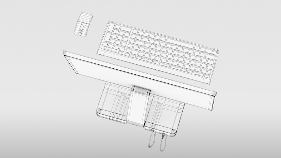 Office Computer royalty-free 3d model - Preview no. 22
