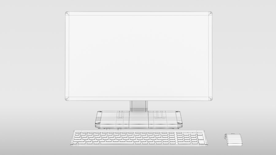 Office Computer royalty-free 3d model - Preview no. 15