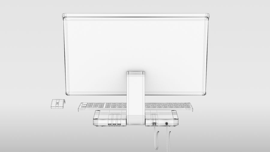 Office Computer royalty-free 3d model - Preview no. 16