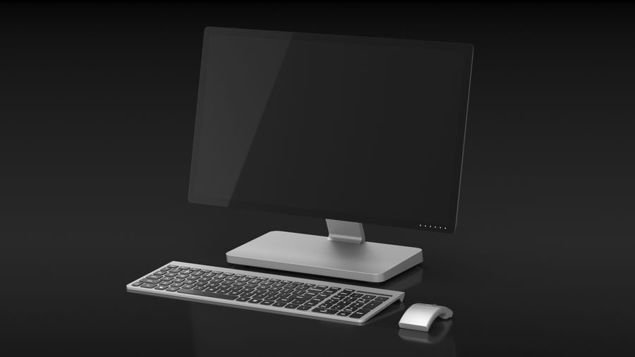 Office Computer royalty-free 3d model - Preview no. 2