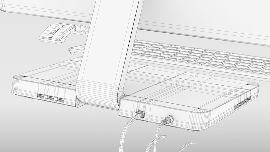 Office Computer royalty-free 3d model - Preview no. 18