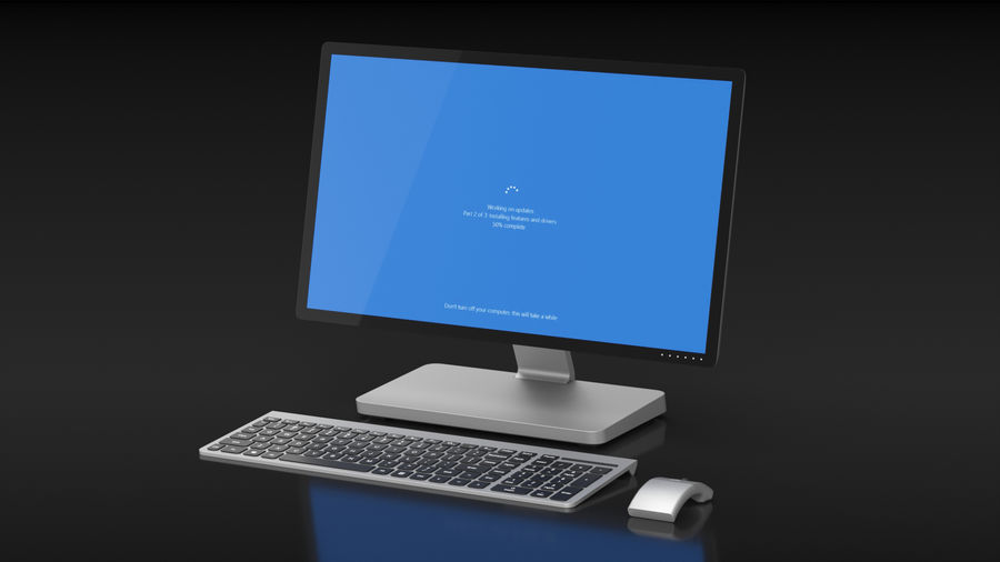 Office Computer royalty-free 3d model - Preview no. 4