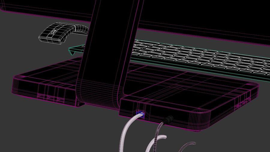 Ordinateur de bureau royalty-free 3d model - Preview no. 28