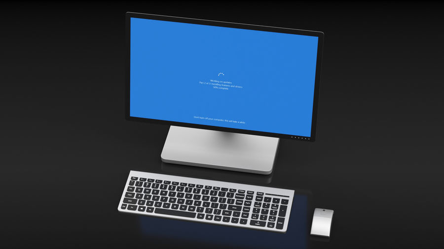 Office Computer royalty-free 3d model - Preview no. 12