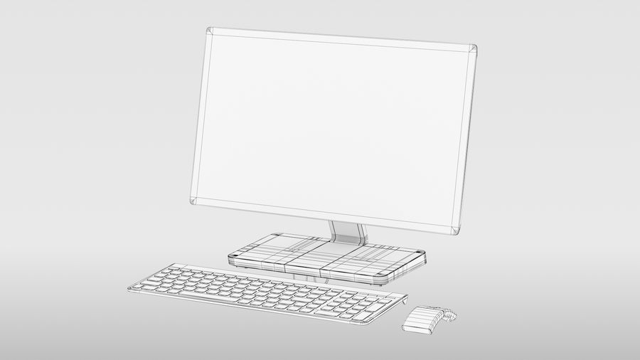 Office Computer royalty-free 3d model - Preview no. 14