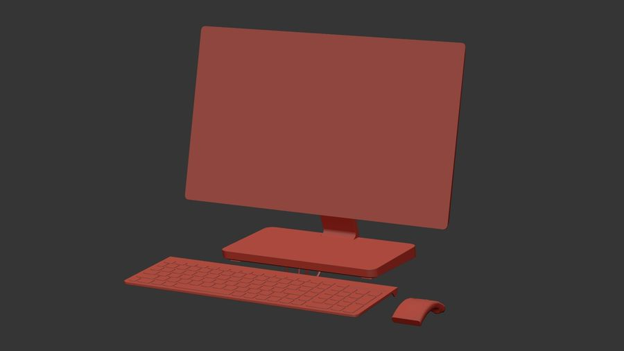 Office Computer royalty-free 3d model - Preview no. 23