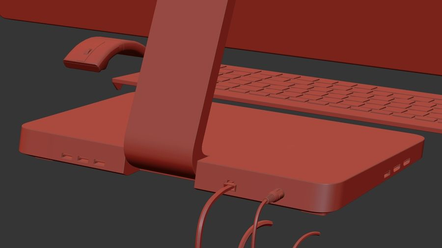 Office Computer royalty-free 3d model - Preview no. 27