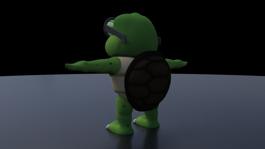 Titu The Turtle royalty-free 3d model - Preview no. 4