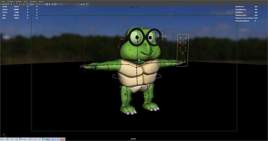 Titu The Turtle royalty-free 3d model - Preview no. 6