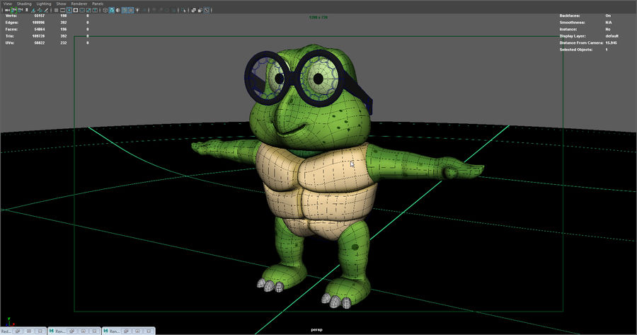 Titu The Turtle royalty-free 3d model - Preview no. 8
