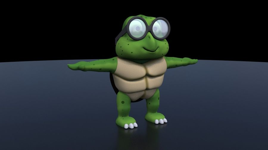 Titu The Turtle royalty-free 3d model - Preview no. 5