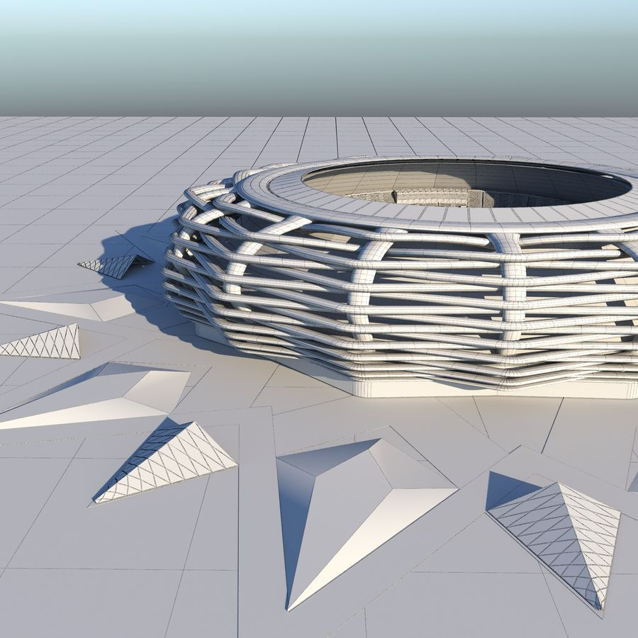 stade 15 royalty-free 3d model - Preview no. 9