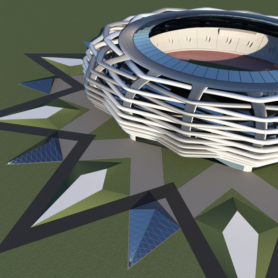 stade 15 royalty-free 3d model - Preview no. 1