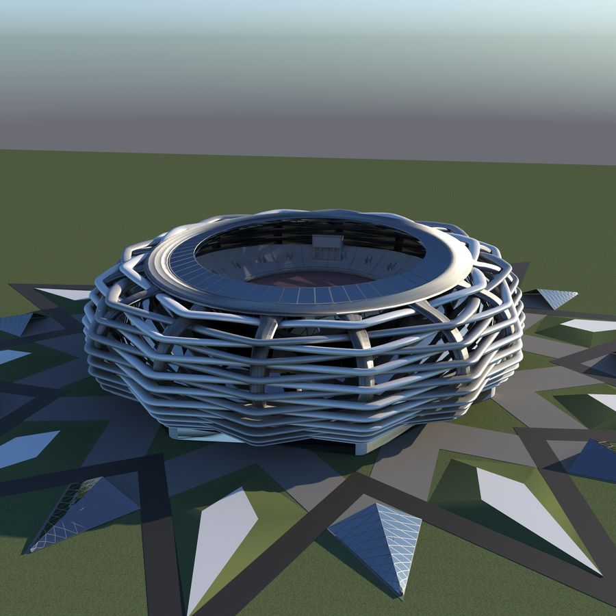 stade 15 royalty-free 3d model - Preview no. 5