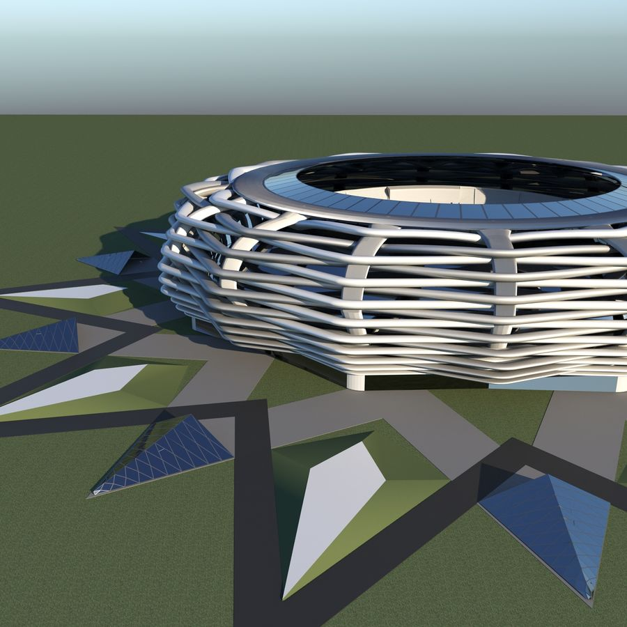 stade 15 royalty-free 3d model - Preview no. 4