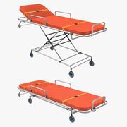 救急車のベッド2つの位置 3d model