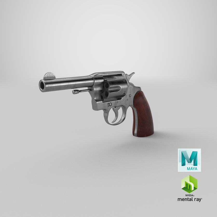 revolver royalty-free 3d model - Preview no. 26