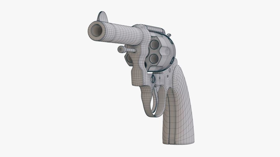 revolver royalty-free 3d model - Preview no. 13
