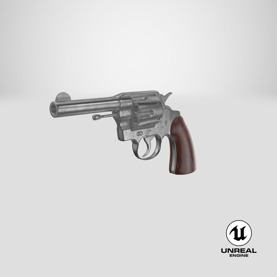 revolver royalty-free 3d model - Preview no. 21