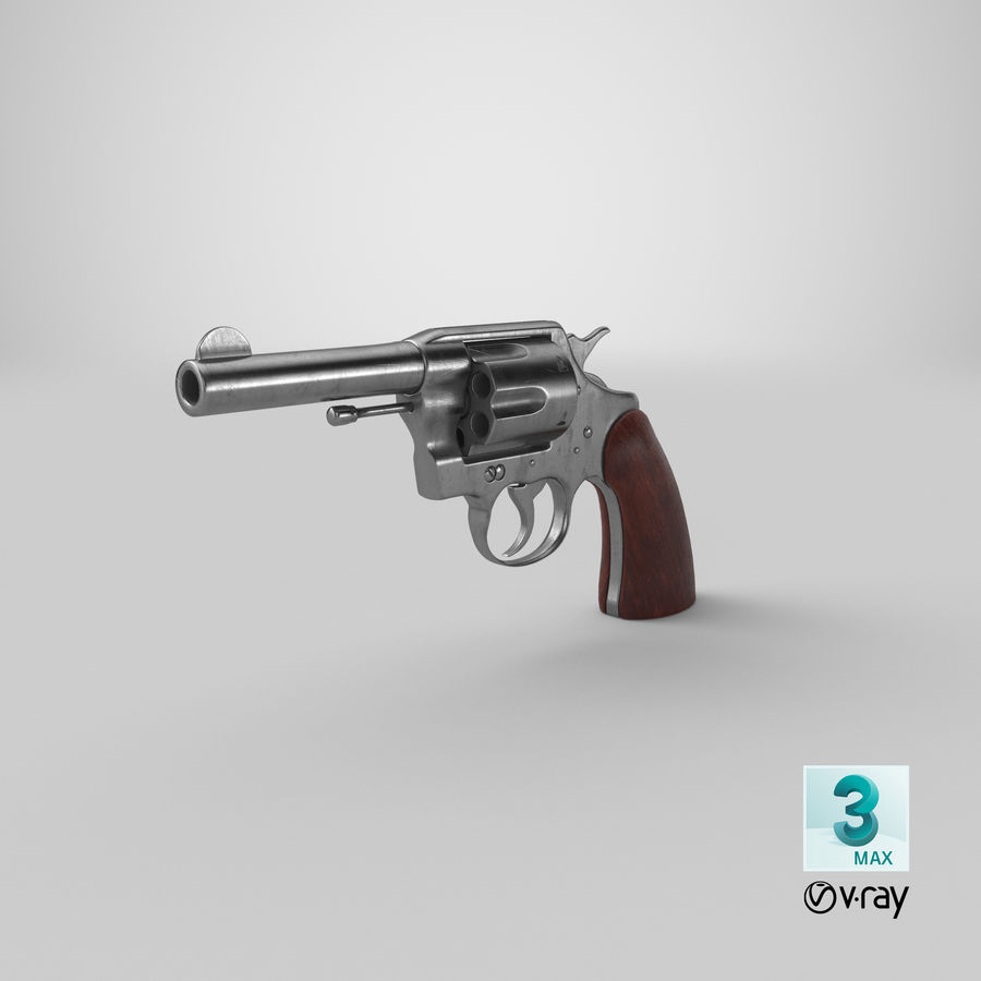 revolver royalty-free 3d model - Preview no. 24