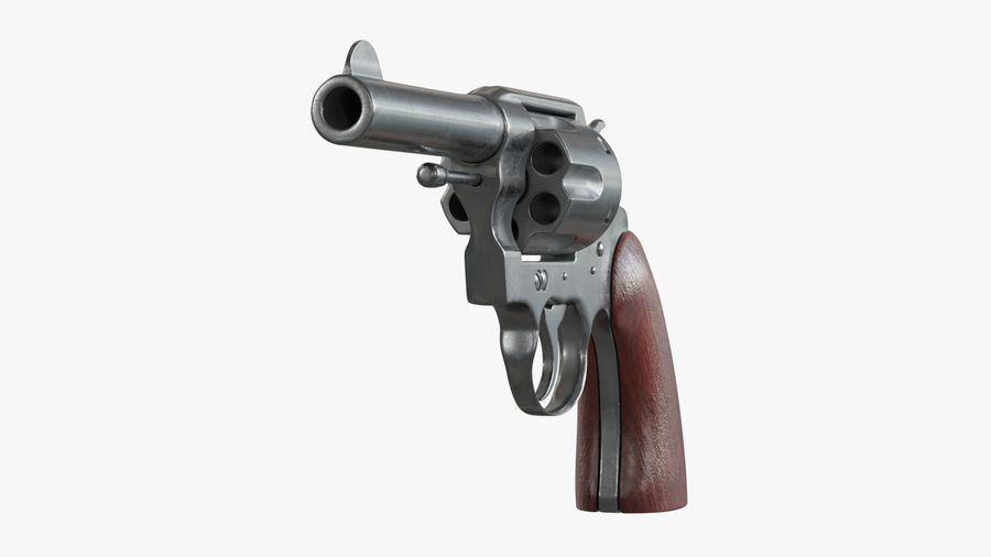 revolver royalty-free 3d model - Preview no. 8