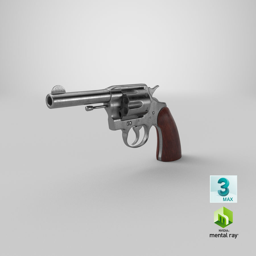 revolver royalty-free 3d model - Preview no. 23