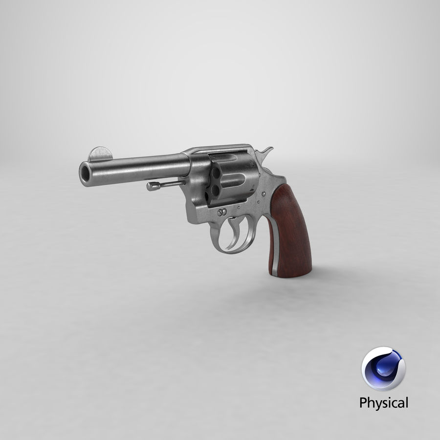 revolver royalty-free 3d model - Preview no. 18