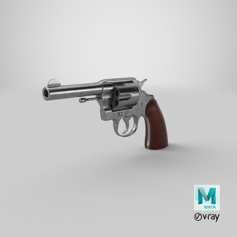revolver royalty-free 3d model - Preview no. 27