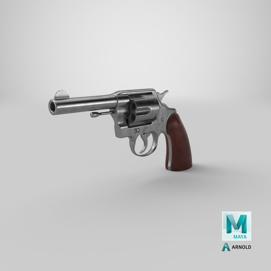 revolver royalty-free 3d model - Preview no. 25