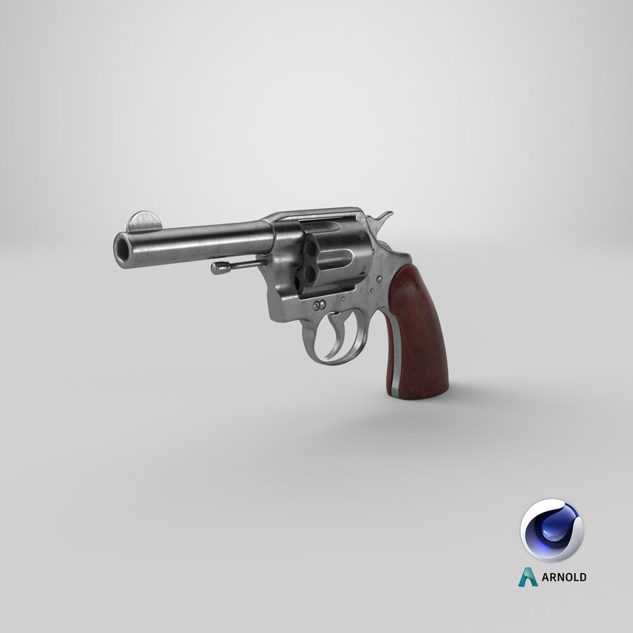 revolver royalty-free 3d model - Preview no. 19