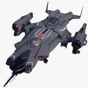 SFバトルクルーザー宇宙船 3d model
