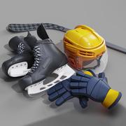 Sprzęt do hokeja 3d model
