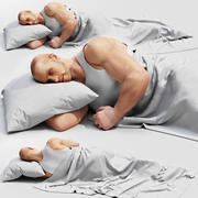 Sleeping man 3d model