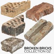 Sammlung gebrochener Steine 02 3d model