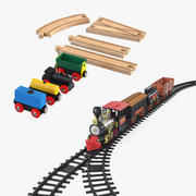 Toy Trains Collection 3d model