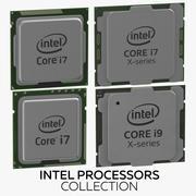 Collezione di processori Intel 3d model