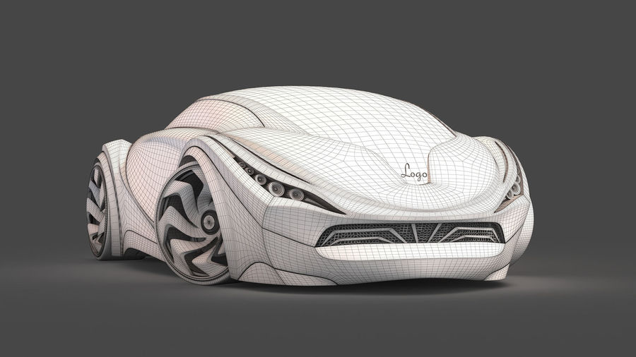 Prototype de voiture royalty-free 3d model - Preview no. 23