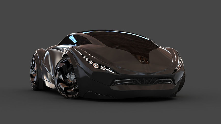 Prototype de voiture royalty-free 3d model - Preview no. 3