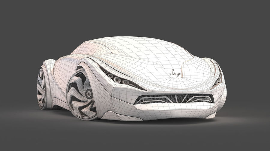 Prototype de voiture royalty-free 3d model - Preview no. 22