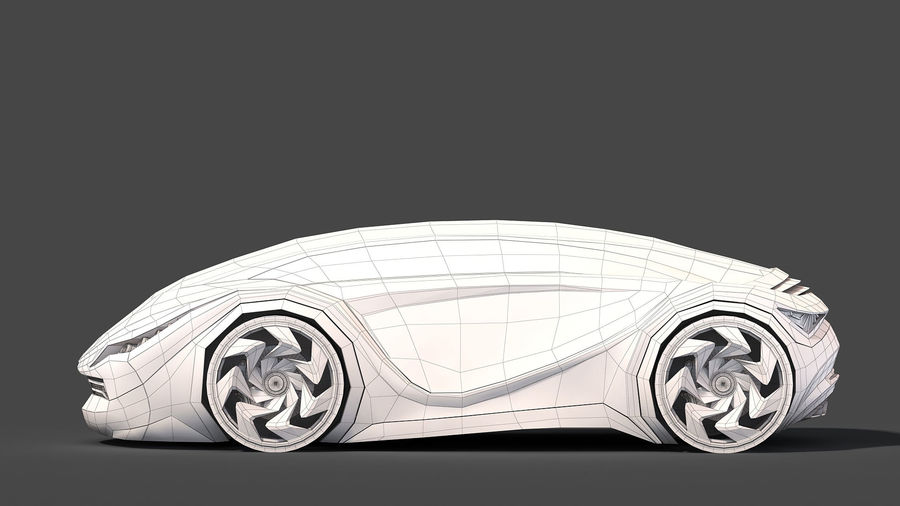 Prototype de voiture royalty-free 3d model - Preview no. 26